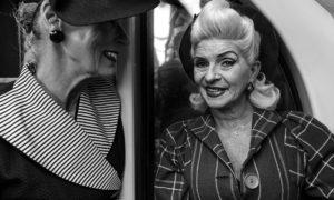 Women in Subway Train